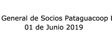 Photo of Junta General de Socios Pataguacoop Ltda. 01 de junio de 2019